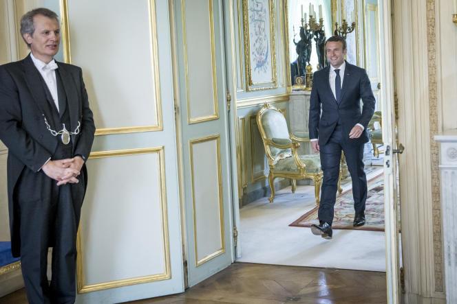 Emmanuel Macron au Palais de l'Elysée, le 23 mai.