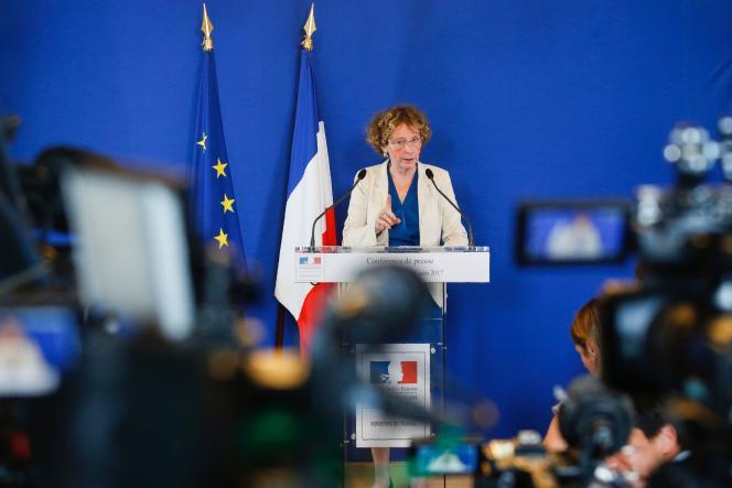 Muriel Penicaud, ministre du travail, lors de la présentation duprojet de réforme du code dutravail, à Paris, le 28 juin 2017.