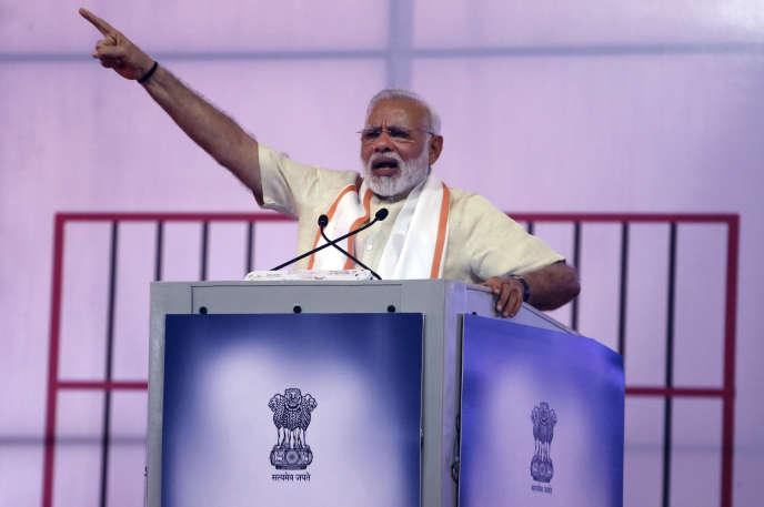 Narendra Modi, à Ahmedabad (Inde), le 29 juin.