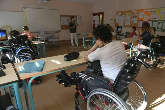 Jour de rentrée dans une école deCaluire et Cuire (Rhône), le 1er septembre 2016.