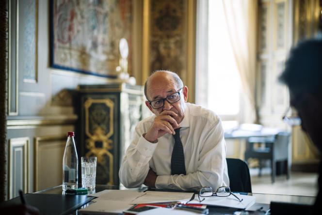 Le ministre de l'Europe et des affaires étrangères Jean-Yves Le Drian, à Paris le 27 juin.