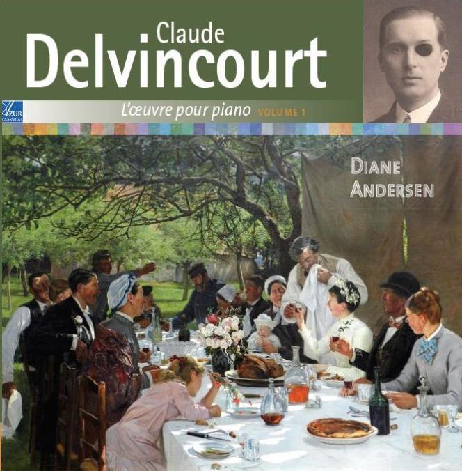 Pochette de l'album«Claude Delvincourt.L'Œuvre pour piano volume 1», par la pianiste Diane Andersen.