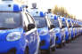 Des voitures sans chauffeur développés par Baidu en test à Wuzhen dans la province du Zhejiang.