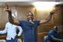 A'Salfo, le leader du groupe ivoirien Magic System, lors d'une répétition à Abidjan, le 25 mai 2017.