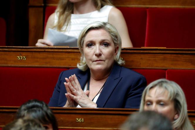 Marine Le Pen à l'Assemblée nationale, le 27juin.