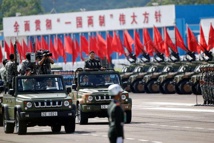 Le président chinois Xi Jinping, vendredi 30juin, à Hongkong.