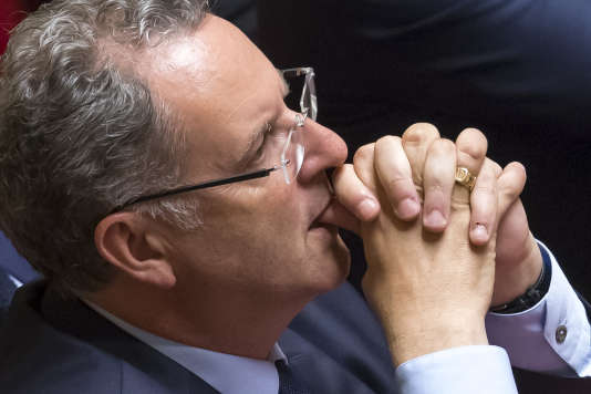 Richard Ferrand, lors de la séance inaugurale de la 15e législature à l'Assemblée nationale à Paris, le 27 juin.