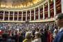 Première séance de la XVe législature à l'Assemblée nationale à Paris, mardi 27 juin.