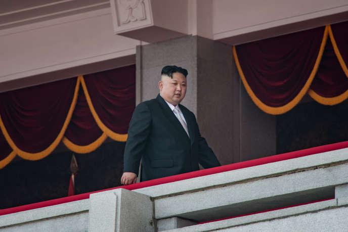 Le dirigeant nord-coréen, Kim Jong-un, le 15 avril à Pyongyang.