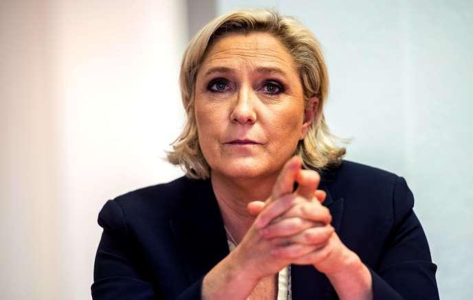 Marine Le Pen, à Lens (Pas-de-Calais), le 14 juin.