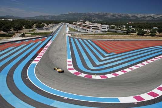 Vue aérienne du circuit Paul -Ricard du Castellet (Var), où se court, le 24 juin 2018, le Grand Prix de France de F1.