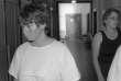 Murielle Bolle lors de son arrivée au tribunal de Dijon, le 30 juin 1986.