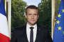 Portrait officielle du président de la République, Emmanuel Macron, réalisée par Soazig de la Moissonnière, sa photographe officielle.