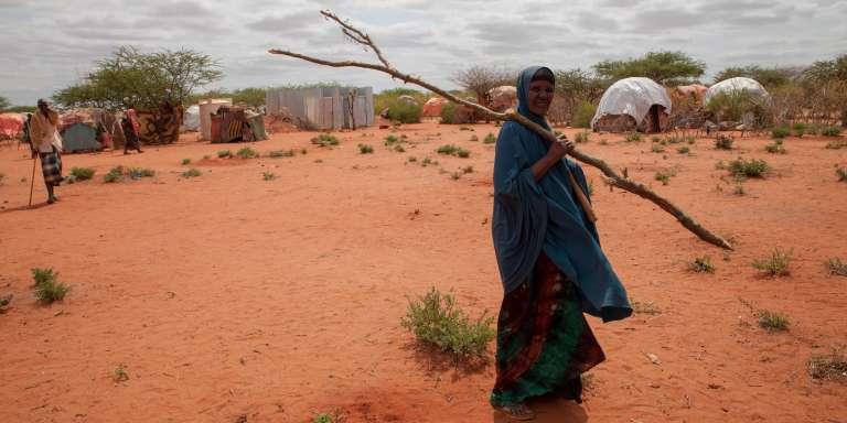 Une femme près d'un camp de personnes déplacées par la sécheresse, dans la région Somali, en Ethiopie, en juin 2017.