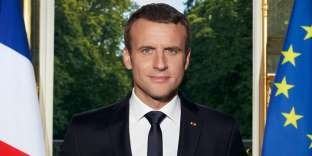 "This handout pictured released on June 29, 2017 by the French Presidency shows the official portrait of French President Emmanuel Macron, posing at the Elysee palace in Paris. The portrait was taken by the French Presidency's photographer, Soazig de la Moissonniere. - RESTRICTED TO EDITORIAL USE - MANDATORY CREDIT ""AFP PHOTO / PRESIDENCE DE LA REPUBLIQUE FRANCAISE / SOAZIG DE LA MOISSONNIERE"" - NO MARKETING NO ADVERTISING CAMPAIGNS - DISTRIBUTED AS A SERVICE TO CLIENTS == NO ARCHIVE / AFP / Presidence de le République Francaise / SOAZIG DE LA MOISSONNIERE / RESTRICTED TO EDITORIAL USE - MANDATORY CREDIT ""AFP PHOTO / PRESIDENCE DE LA REPUBLIQUE FRANCAISE / SOAZIG DE LA MOISSONNIERE"" - NO MARKETING NO ADVERTISING CAMPAIGNS - DISTRIBUTED AS A SERVICE TO CLIENTS == NO ARCHIVE"