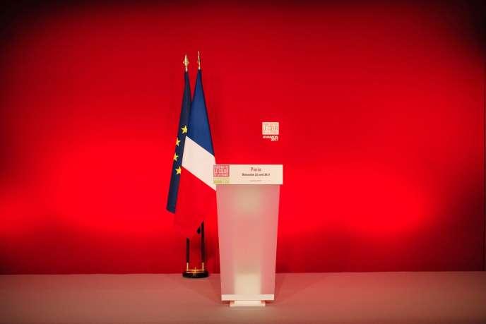 A La Mutualité à Paris, le 23 avril.