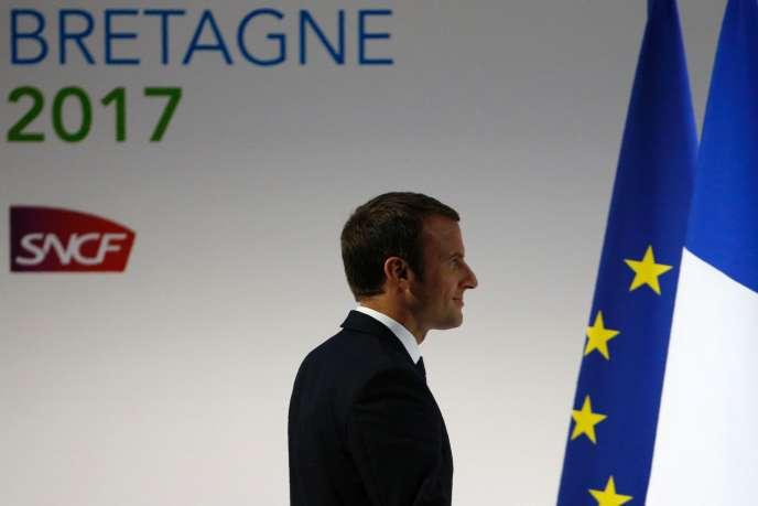 Emmanuel Macron à Rennes, le 1er juillet.