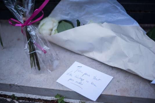 Devant chez Simone Veil, le jour de sa mort.