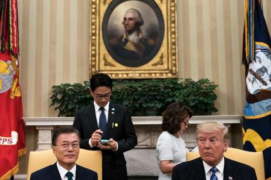 Moon Jae-in, le président sud-coréen, a été reçu par Donald Trump à la Maison Blanche, le 30 juin.