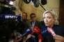 Marine Le Pen s'adresse àla presse, à l'Assemblée nationale, à Paris le 29 juin.