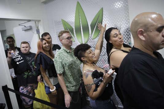 Dans un point de vente de marijuana, samedi 1er juillet 2017, à Las Vegas.