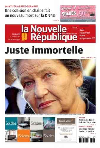 """« Alors, un hommage national aux Invalides ? A tout le moins. Une """"panthéonisation"""", déjà réclamée par pétition ? Personne ne s'en offusquerait », remarque Christophe Hérigault dans « La Nouvelle République du Centre Ouest »."""