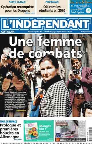 « Une femme de combats» titre «L'Indépendant».