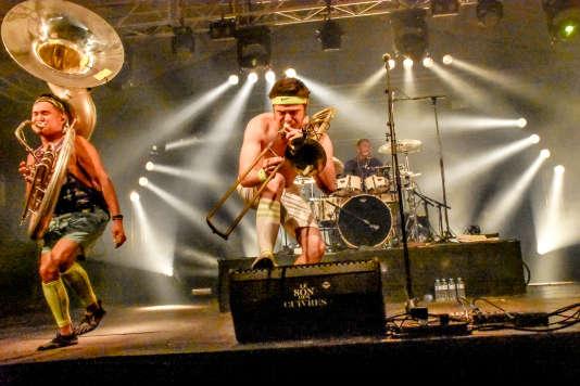 Le groupe new-yorkais Lucky Chops, vendredi 30 juin à Mamers.