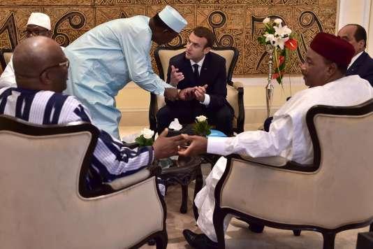 Le président français Emmanuel Macron au sommet du G5 Sahel à Bamako, au Mali, le 2juillet 2017.