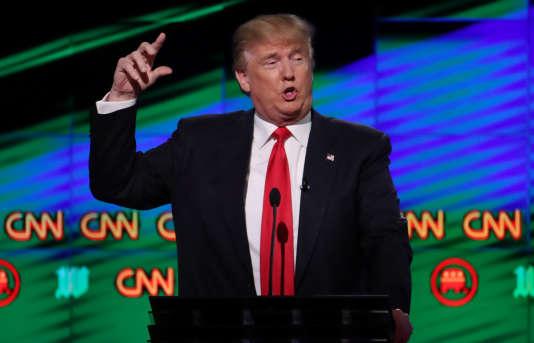 Donald Trump, lors d'un débat parrainé par CNN, à l'université de Miamien 2016.