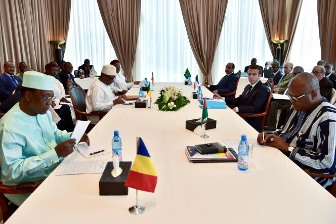 Lors de la constitution d'une force antidjihadiste conjointe par leG5 Sahel, le 2juillet à Bamako, au Mali.