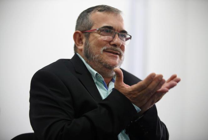 Rodrigo Londono, appelé «Timochenko», durant une conférence à Bogota, en Colombie, le 25 novembre 2016.