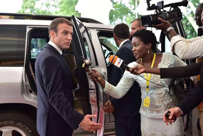 Emmanuel Macron, le 2 juillet à Bamako.