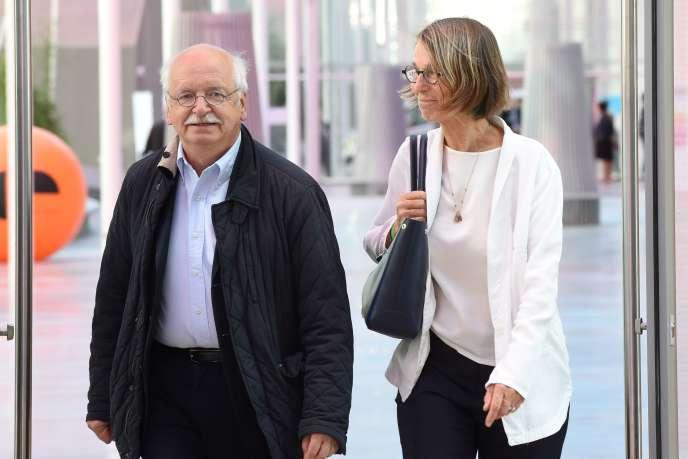 L'académicien Erik Orsenna et la ministre de la culture Françoise Nyssen lors d'un séminaire à Nancy, en juin 2017.