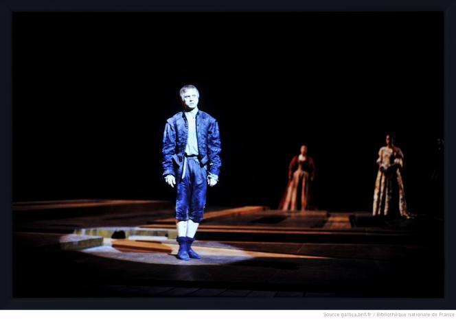 Gérard Desarthe dans « Hamlet », mise en scène par Patrice Chéreau, en 1988.