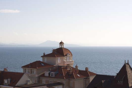 Biarritz, vue du Transat Sky Bar.