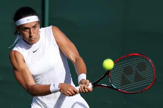 Caroline Garcia a battu Jana Cepelova, lundi.