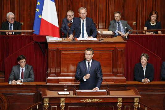 Discours d'Emmanuel Macron devant le Congrès à Versailles, le 3 juillet.