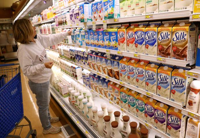 Les produits au lait de soja Silk de WhiteWave dans un magasin de San Rafael, Californie, le 7 juillet 2016.