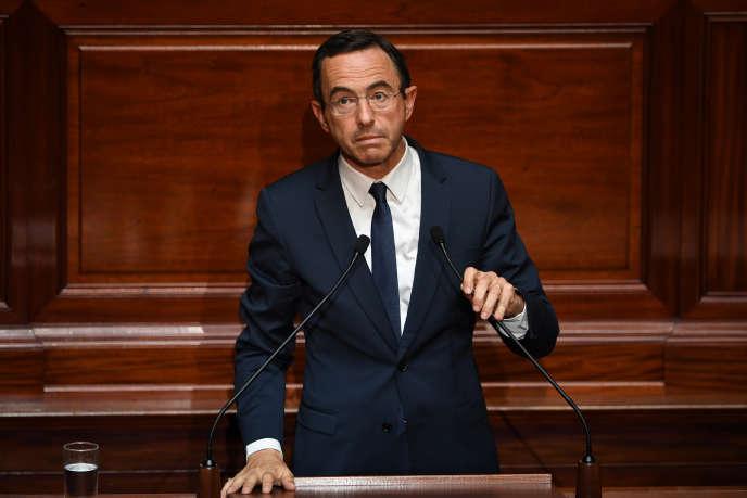 Bruno Retailleau, chef de file Les Républicains au Sénat, lors du Congrès à Versailles, le 3 juillet.