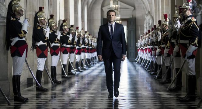 Emmanuel Macron, à Versailles le 3 juillet.