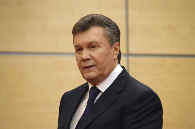 Viktor Ianoukovitch, à Rostov-sur-le-Don (Russie), en 2014.