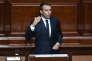 Le président Emmanuel Macron parle à la tribune devant le Parlement réuni en Congrès à Verailles lundi 3 juillet.