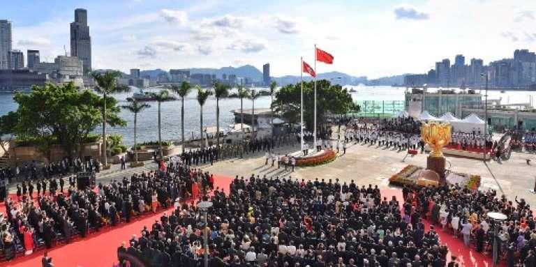 Cérémonie du vingtième anniversaire de la rétrocession de Hongkong à la Chine, le 1er juillet 2017.