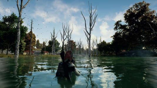 « PUBG» offre une expérience solitaire et stressante, isolé sur une carte géante où errent 99 autres chasseurs.