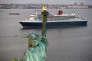"Le 1er Juillet 2017, le ""QUEEN MARY 2"" arrive à New York (USA)."