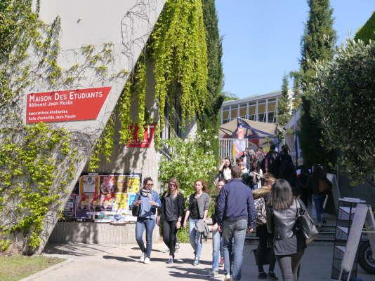 Campus de l'université Paul-Valéry-Montpellier-3, le 3 mars 2017.