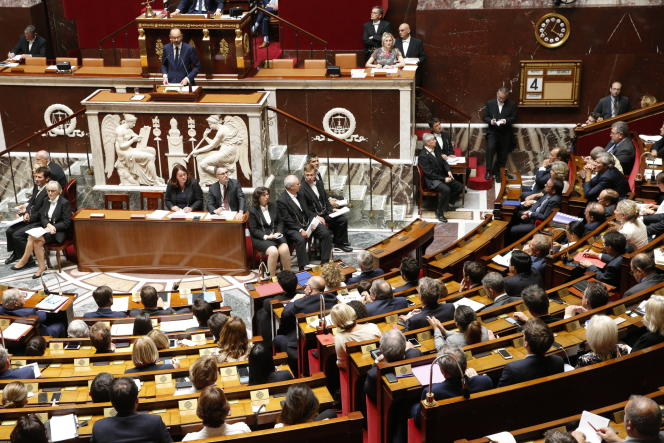 Edouard Philippe, mardi 4 juillet, devant l'Assemblée nationale.