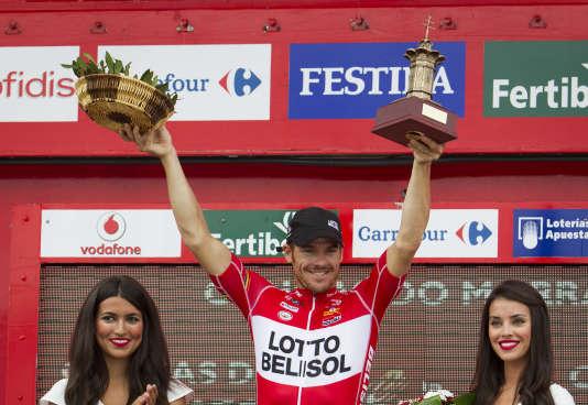 L'AustralienAdam Hansen a entamé avec le Tour 2017 son 18e grand Tour de suite– ici lors de la Vuelta 2014.