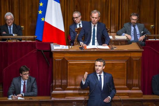 « Le président de la République convoquera une conférence des territoires qui se réunira à partir du 17 juillet» (Emmanuel Macron, président de la République, parle devant le Parlement réuni en Congrès à Versailles, le 3 juillet).